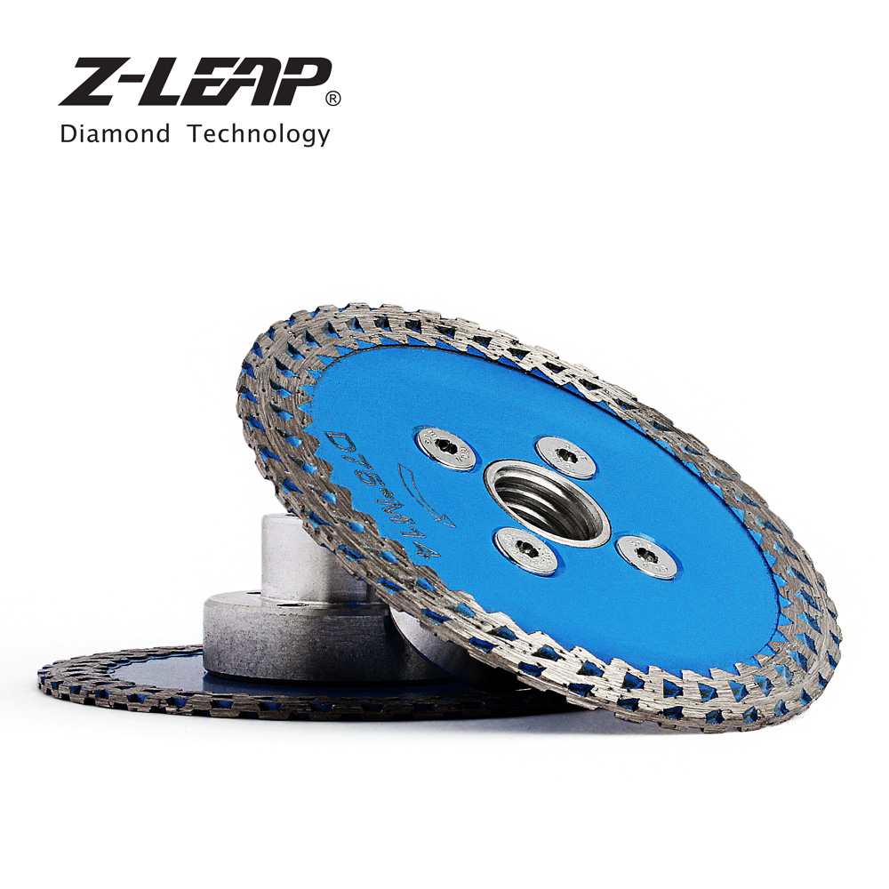 Z-LEAP 75mm Mini Diamond Blade Hot Pressed Cutting Carving Tool With M14 Thread Flange Granite Stone Circular Saw Diamond Disk