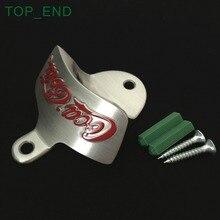 1 шт., автомобильный бампер/настенное крепление открывалка для бутылок, аппретированное щеткой алюминиевое покрытие сплав, устойчивость к ржавчине, крепежные винты в комплекте
