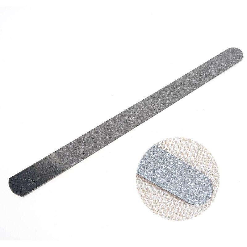 LEARNEVER нержавеющая сталь пилка для ногтей шлифовальные полировки ногтей шлифовальные блоки абразив дизайн ногтей Педикюр Маникюр Металл