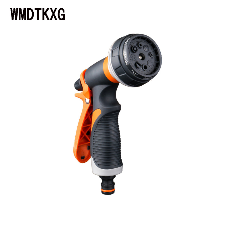 Adjustable 8 Patterns Spray Nozzles Spray Gun Garden Watering Lawn Sprinkler Family Car Wash Nozzle Garden Watering Supplies
