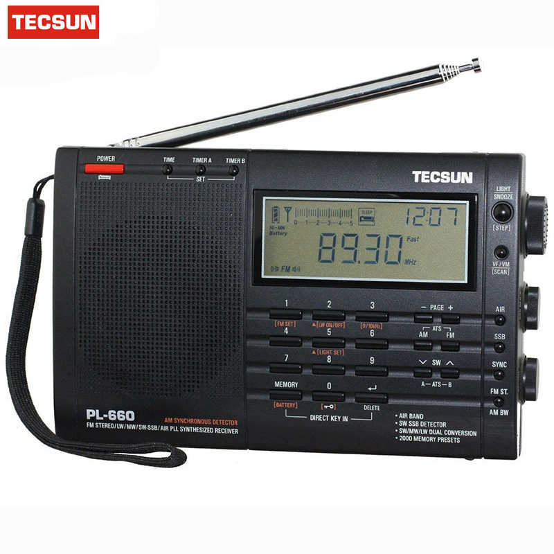 Zielstrebig Marke Neue Tecsun Pl-660 Radio Pll Ssb Vhf Air Band Radio Empfänger Fm/mw/sw/lw Radio Multiband Dual Conversion Digital-receiver 100% Original Tragbares Audio & Video