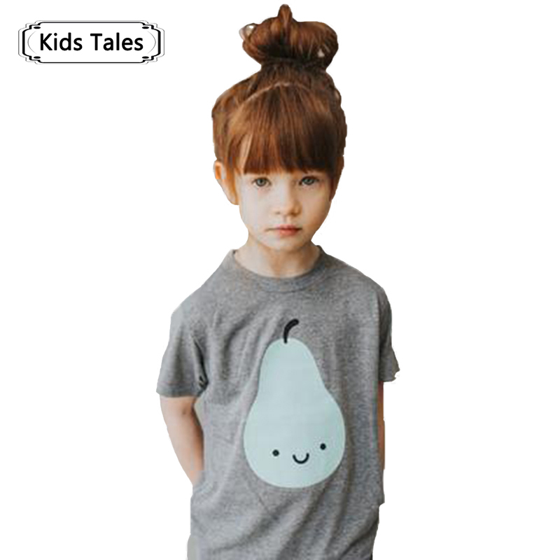 2018 Summer Kids Girls T-Shirts Baby Boys With Short Sleeve Top Tee Cotton T-Shirts for Girls Cartoon Kids Baby T-Shirts SC046 2017 summer girls sets clothes short sleeve chiffon baby girls sets for kids big girls t shirts and stripe shorts children suits