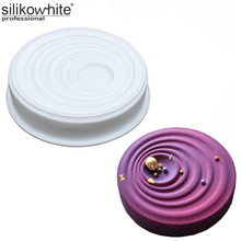 Corrugated Large Disc Shape Cake Mousse Dessert Silicone Cake Mold Home Fun Baking Tools Baking Pan Silicone Forms Cupcake Pops
