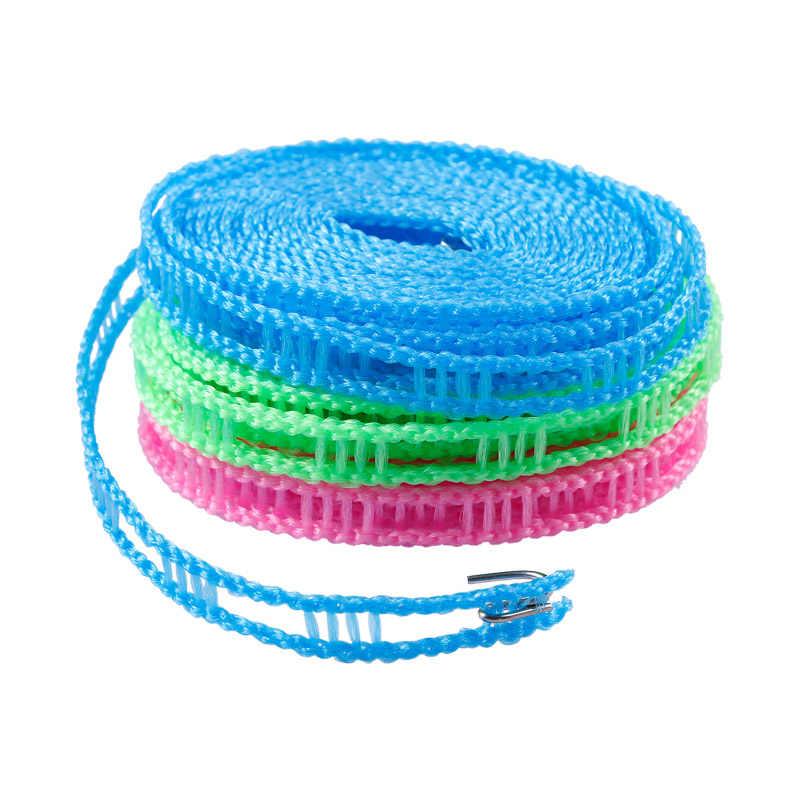 Sprzedaż 1 PC 3 metrów osłona przed wiatrem sznurki losowy kolor 5 metrów tkaniny wiszące lina antypoślizgowa suszarka do ubrań na świeżym powietrzu