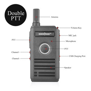 Image 3 - SOCOTRAN SC 600 UHF mini walkie talkie Amateur Radio 400 470MHz Ultra dünne zwei weg radio doppel PTT atmen licht