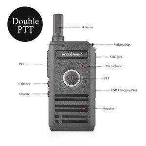 Image 3 - SOCOTRAN SC 600 UHF mini walkie talkie Amateur Radio 400 470MHz Ultra slim two way radio double PTT breathing light