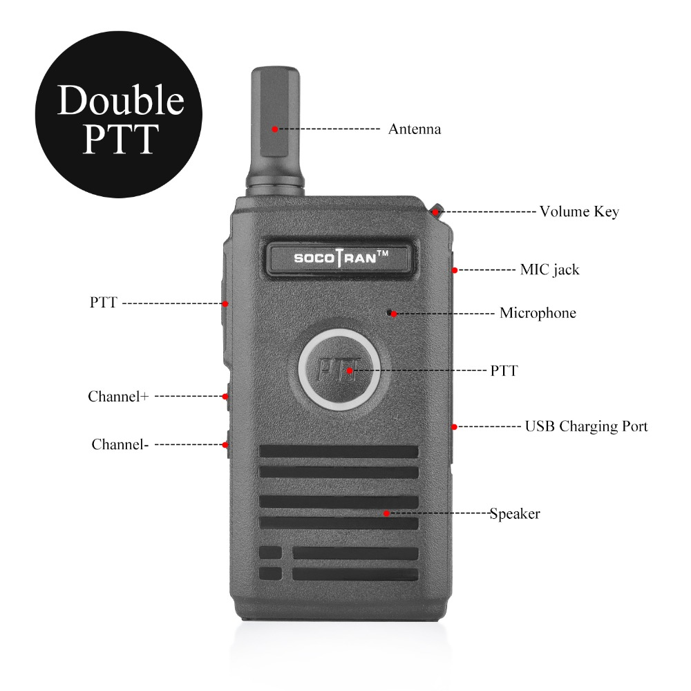 Image 2 - Ship from RU SOCOTRAN SC 600 UHF mini walkie talkie Amateur Radio 400 470MHz Ultra slim two way radio double PTT breathing light-in Walkie Talkie from Cellphones & Telecommunications