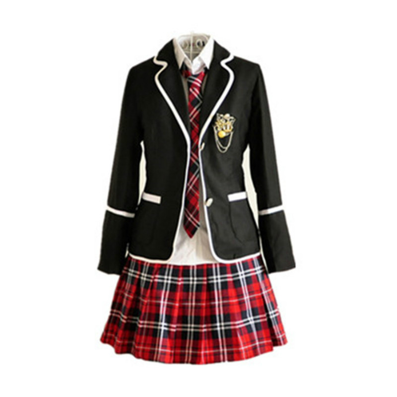 Студенты с длинными рукавами Школьная форма Япония и Южная Корея JK форма средней школы для мальчиков и девочек студентов костюм