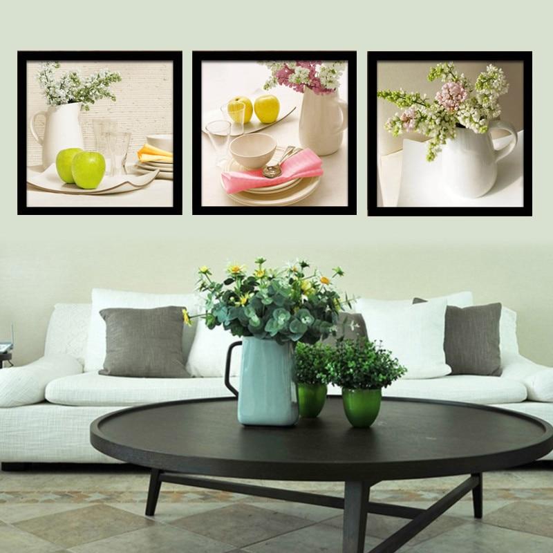 minimalista moderno lienzo de arte grabados y carteles tazas de fruta en lienzo de pared cuadros para la sala comedor decoraci