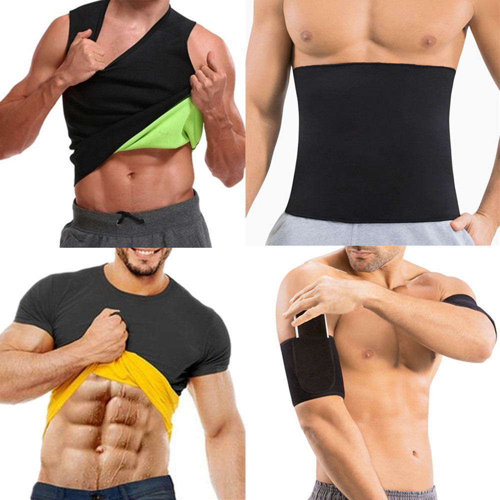 fca20626e6 Slimming Belt Belly Men Slimming Shirt Body Shaper Neoprene Abdomen Fat  Burning Shaperwear Waist Trainer Corset