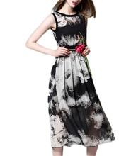 Entworfene Schwarz Oansatz Tee Länge Prom Kleider Sleeveless mit Muster Cocktail Homecoming Party Kleider vestido de festa