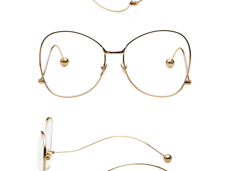 De gran tamaño de Lente Eyewear Del Marco Negro Gafas de Moda Ojo ...