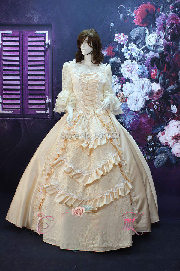 beading champagne lace luxury 17 18th Century Baroque Rococo Pink Marie Antoinette Era Court ball gown Cosplay Costume Dress