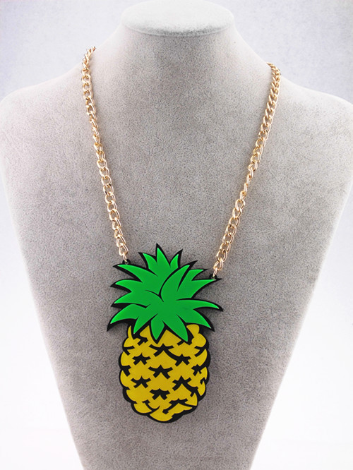 Pineapple Accessories aliexpress : buy fashion metal gold chain big acrylic