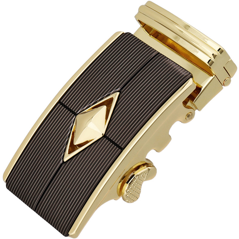 LannyQveen New Model Belt Buckle Automatic Buckles Alloy Ratchet Buckle Colorful Belt Accessories Without Strap