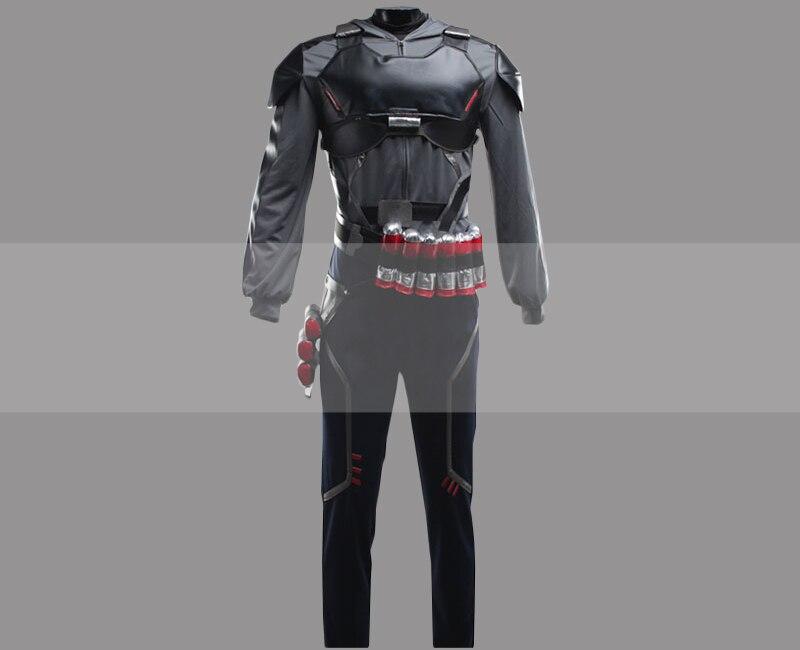 Overwatch Cosplay Costume Accessory Reaper Gabriel Reyes Black Waist Belt V1