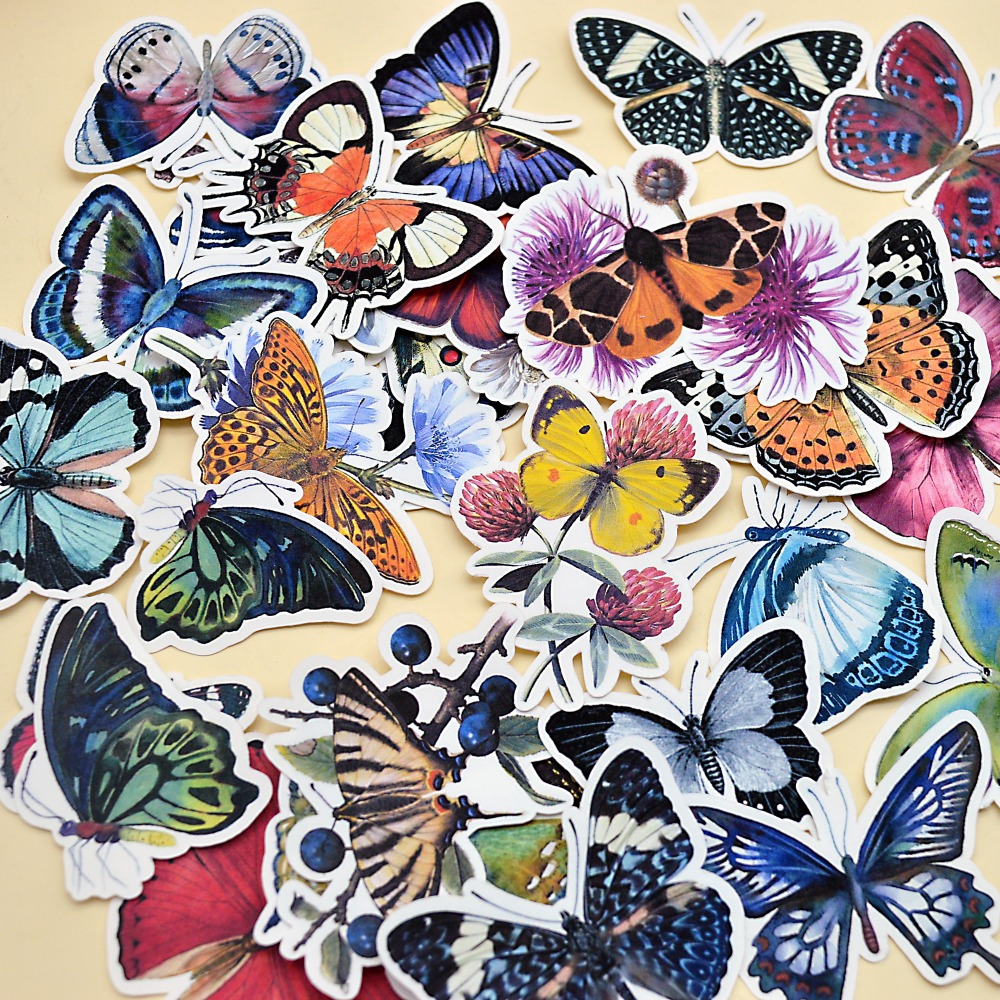 31pcs Hand drawing Butterfly thin Paper Stickers Crafts And Scrapbooking Decorative Sticker Lovely DIY Stationery31pcs Hand drawing Butterfly thin Paper Stickers Crafts And Scrapbooking Decorative Sticker Lovely DIY Stationery