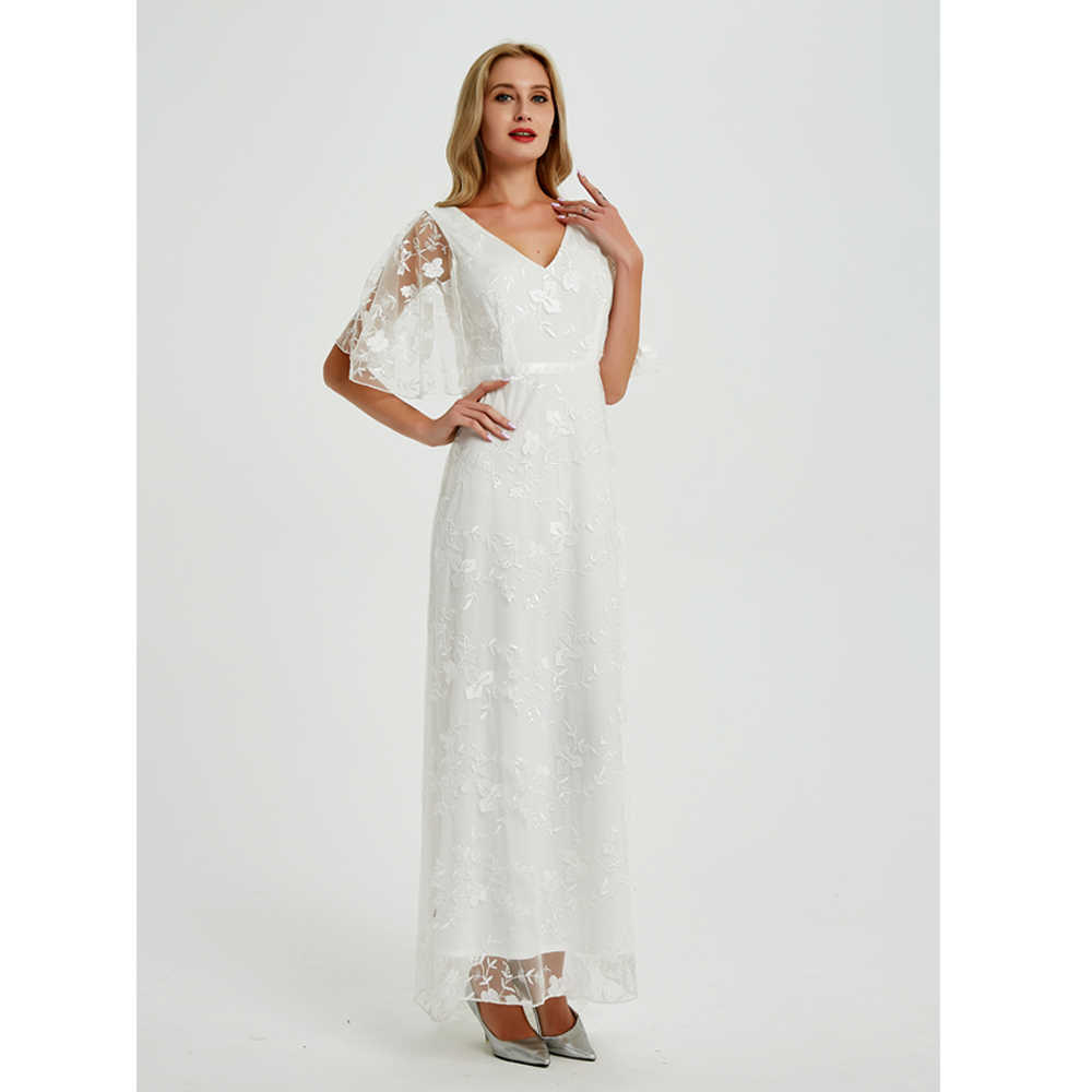 2019 New Women long Dress Sexy Deep V Neck Casual Party Dress Backless Sleeveless White Dresses Vacation Wear