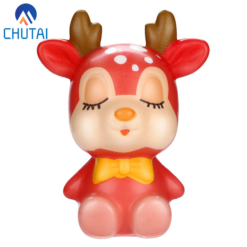 2019 Kawaii Christmas Deer Slow Rising Cream Scented Stress Relief Toys Squishy Stress Relief Toy Funny Kids Toy 12*10CM