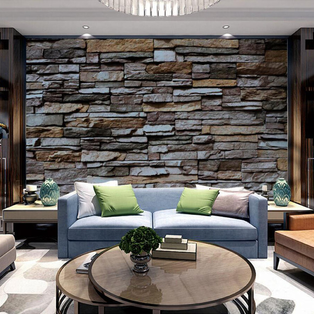 3d Bricks Wallpaper Block Papel Mural For Living Room Tv Background