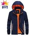 Весна вниз новый тонкий срез куртка мужской моды случайные Тонкий куртка с капюшоном куртки пальто Размер L-4XL
