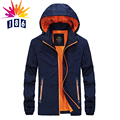 Spring down new thin section jacket male fashion casual Slim jacket hooded jacket coat Size L-4XL