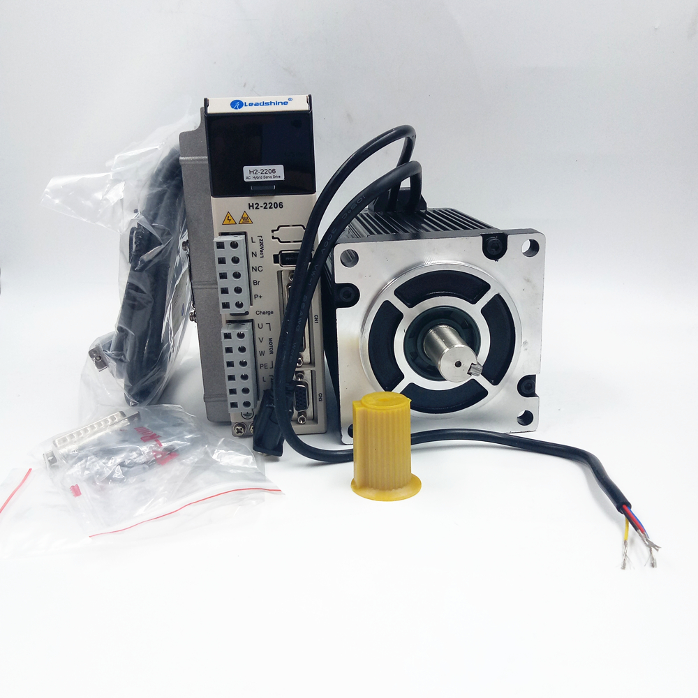 3phase 12Nm 110mm NEMA42 Leadshine Closed Loop Stepper Kit 1103HSM120H-E1+H2-2206 220V Servo Motor&Drive ES-MH342120+ES-DH2306 nema23 3phase closed loop motor hybrid servo drive hbs507 leadshine 18 50vdc new original