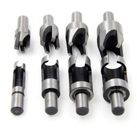 8pcs Round Shank 3 8 9 5mm Carpentry Wood Plug Cutter Straight Tapered Claw Type Drill