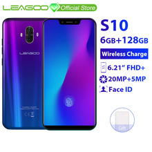 "LEAGOO S10 6GB 128GB Mobile Phone Android 8.1 6.21"" 19:"