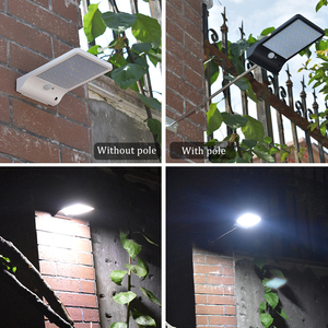 Image 5 - 450Lumens 48 LED Solar Light Three Modes Black White Waterproof Outdoor Garden Wall Fence Lamp With Mounting Pole Or Not