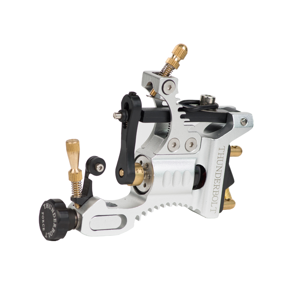 Retail 1 Set 2015 Develop high quality unmatched Thunderbolt Force Rotary tattoo machine Aluminum tattoo Machine 1 sets of tattoo machine high quality