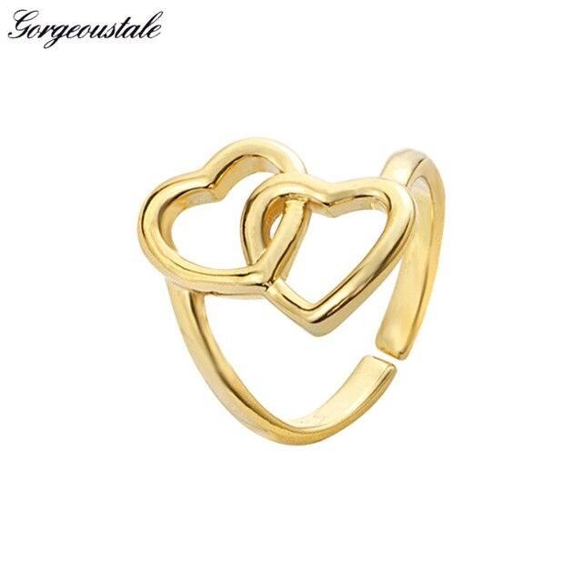 Gorgeous Tale Interlock Cross Heart Ring Men Jewelry Wedding Rings