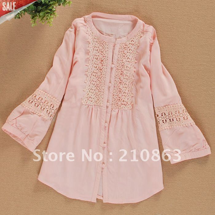 Ladies Shirts Fashion Design Lace Ruffled Blouses For Women Summer Clothes Designer Blouse Style Pink Shirt 810p Blouse Tunic Shirts You Can Designshirt L Aliexpress