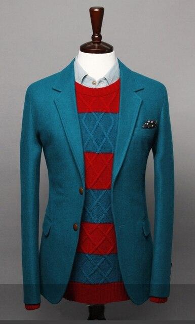 New Autumn and Winter 2016 men's classic simplicity Fashion suit jacket Men's solid two buckle woolen suit jacket coat