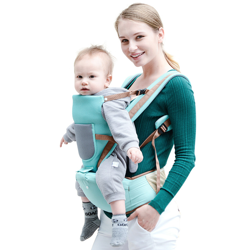 BabyLab Breathable Baby Waist Stool Straps Front Carry Baby