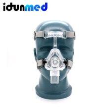 BMC السيارات CPAP الأنف قناع سيليكون تنفس 3 حجم وسائد مع قابل للتعديل القبعات حزام ل توقف التنفس أثناء النوم مكافحة الشخير