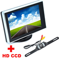 Color LCD Car Monitor With 7LED Car CCD Rearview Rear View Camera backup Camera 2 in 1  Auto Parking Assistance system