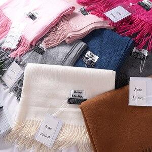 Image 3 - Écharpes en cachemire épais et chaud pour femmes