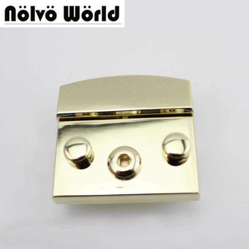Nolvo World Light gold,Silver Color 50X50mm handbags bags metal lock replacement,Bags Handbags New Closured Pushed Snap Lock nokia 515 light gold