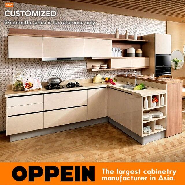 2016 New Kitchen Kabinet Blum Hardware Dapur Modern Op16 074