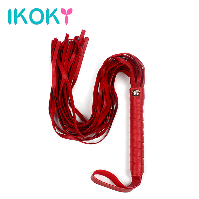 IKOKY PU Leather Sex Whip Sex Toys For Couples Roleplay Adult Games Flogger SM Spanking Paddle Fetish Flirt Sexy Knout Bondage