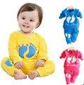 Высокое качество ребенок горячей продажи девочка детская одежда мальчик случайный с длинными рукавами 3 цвета новорожденных девочек одежда набор