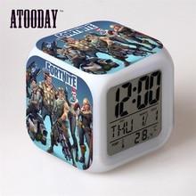 Alarm Clock Led Light 7 Color Change Orologio Digitale Saat Klok Table Plastic Digital Vintage