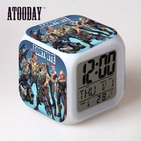 Alarm Clock Led Light 7 Color Change Orologio Digitale Saat Klok Table Plastic Digital Vintage