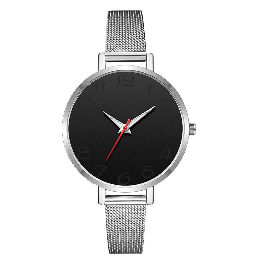 Новые женские часы-браслет, ЖЕНСКИЕ НАРЯДНЫЕ часы, женские повседневные кварцевые часы со стальным ремешком, аналоговые женские наручные часы Zegarek Damski - Цвет: silver black silver