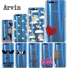Arvin Silicone Case for Huawei Honor 9 Soft TPU Case for Huawei Honor 9 Premium Slim Crystal Clear Transparent Painting Fundas(China)