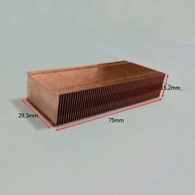 75*29.3*15.2mm Pure Copper Radiator Copper Cooling Fins Copper Fin Can Be DIY Longer Heat Sink Radiactor Fin Coliing Fin