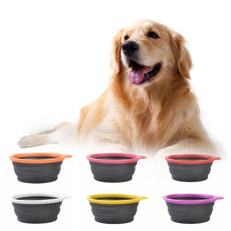 Silicona Fording Tazón de Alimentación para Perros Plegable Cats - Productos animales