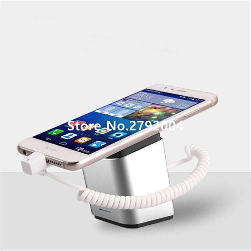 China supplier mobile phone display stand holder with alarm for retail display