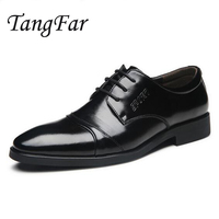 Men S Business Shoes Pointed Toe Leather Oxfords Shoes For Men Big Size 47 46 Male